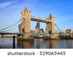 tower bridge on sunny day ... | Shutterstock . vector #529065445