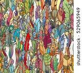 seamless pattern with random... | Shutterstock .eps vector #529065949