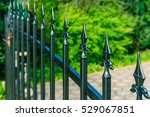 Beautiful Iron Fence With Green ...