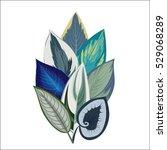 exotic tropical leaves.... | Shutterstock .eps vector #529068289