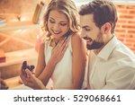 handsome elegant guy is... | Shutterstock . vector #529068661