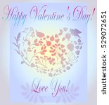 happy valentine's day greeting... | Shutterstock .eps vector #529072651