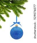 blue glitter christmas decor... | Shutterstock . vector #529076077