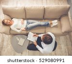 at the psychologist. top view... | Shutterstock . vector #529080991