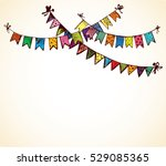 cute tied different baby... | Shutterstock .eps vector #529085365