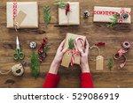 woman holding in hands... | Shutterstock . vector #529086919