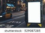 blank advertising light box on... | Shutterstock . vector #529087285