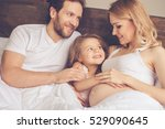 beautiful pregnant woman  her... | Shutterstock . vector #529090645