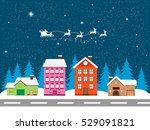 happy new year and merry... | Shutterstock . vector #529091821