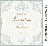 wedding invitation or greeting... | Shutterstock .eps vector #529096759