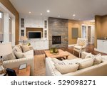 beautiful furnished living room ... | Shutterstock . vector #529098271