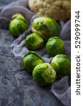 brussels sprouts and... | Shutterstock . vector #529099744