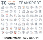 set vector line icons in flat... | Shutterstock .eps vector #529100044