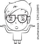 cute little boy wondering... | Shutterstock .eps vector #529110895