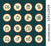 shopping web icons | Shutterstock .eps vector #529112929