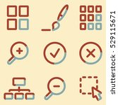 image viewer icons  light blue... | Shutterstock .eps vector #529115671