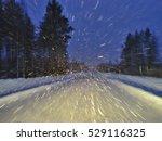 Twilight Driving Through Snow...