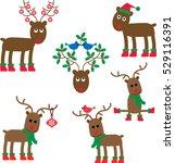 whimsical reindeer  | Shutterstock .eps vector #529116391