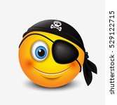 cute pirate smiley wearing