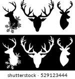 set of christmas reindeer   Shutterstock .eps vector #529123444