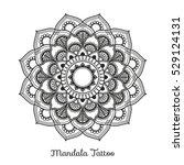 mandala decorative ornament... | Shutterstock .eps vector #529124131
