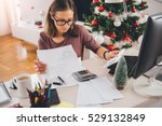 woman sitting at the office... | Shutterstock . vector #529132849