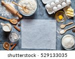 dough preparation recipe bread  ... | Shutterstock . vector #529133035