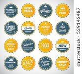 vector illustration of vintage... | Shutterstock .eps vector #529143487