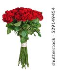 Stock photo colorful flower bouquet from red roses isolated on white background closeup 529149454