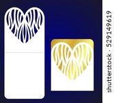 laser cutting template.... | Shutterstock .eps vector #529149619