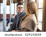handsome and smiling man... | Shutterstock . vector #529153039