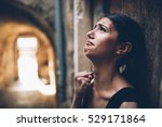 woman with sad face crying.sad... | Shutterstock . vector #529171864
