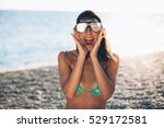 carefree woman dancing.vacation ... | Shutterstock . vector #529172581