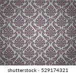 damask background dark magenta... | Shutterstock .eps vector #529174321