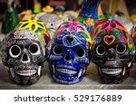 decorated colorful skulls ... | Shutterstock . vector #529176889