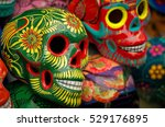 decorated colorful skulls ...   Shutterstock . vector #529176895