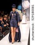moscow   october 17 the model... | Shutterstock . vector #529180081
