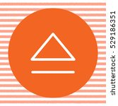 eject button sign line vector...