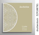 invitation or card template... | Shutterstock .eps vector #529188781