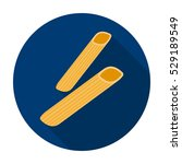 penne rigate pasta icon in flat ... | Shutterstock .eps vector #529189549