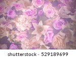 Flower Background In Soft Swee...