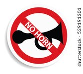 No Horn Sign On White...