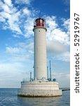 Vorontsovsky lighthouse in Odessa, Ukraine - stock photo