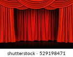 red curtains and wooden stage... | Shutterstock . vector #529198471