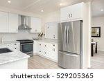 modern  bright  clean  kitchen... | Shutterstock . vector #529205365