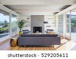 elegant wooden designer... | Shutterstock . vector #529205611