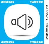 speaker line vector icon. audio ...