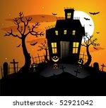 haunted house halloween... | Shutterstock .eps vector #52921042