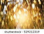 Shining Golden Mosaic Glass...