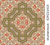 oriental vector pattern with... | Shutterstock .eps vector #529221415